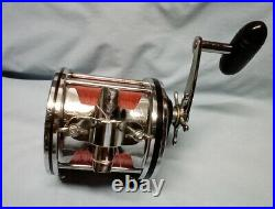 Vintage Penn Senator 115 9/0 Reel, Rod Clamp & Brace Made in USA Nice FREE SHIP