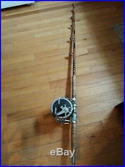 Vintage Penn Senator 14/0 reel on a Murat custom boat rod
