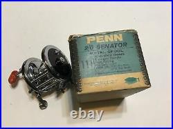 Vintage Penn Senator 2/0 Reel WithOriginal Box And Extras Lot H1
