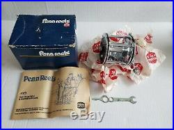 Vintage Penn Senator 4/0 113 Fishing Reel EXCELLENT NICE! With Original Box