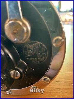 Vintage Penn Senator 6/0 Fishing Reel Saltwater Conventional Made In USA Black