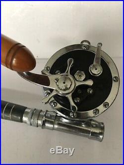 Vintage Penn Senator 6/0 Fishing Reel withwood handle