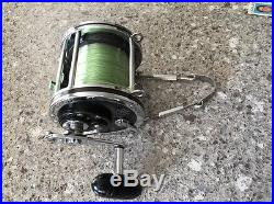 Vintage Penn Senator 9/0 Big Game Conventional Reel with Rod Harness Made in USA