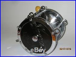 Vintage Penn Senator 9/0 Deep Sea Fishing Reel withRod Clamp & Brace, NEAR MINT