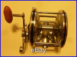 Vintage Penn Senator Game Fish Reel 2/0, USA, Old 3 Bar (NICE CLEANED AND READY)