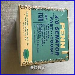 Vintage Penn Special Senator 113H 4/0 Conventional Saltwater Reel Excellent BOX