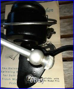 Vintage Penn Spinfsher 710 Black Spinning Fishing Reel Rare Saltwater Used. Don