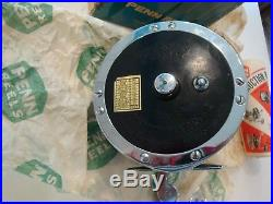 Vintage Penn Super Mariner 49m Fishing Reel With Box, Catalog 34b & Penn Wrench