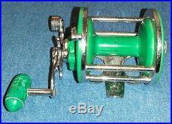 Vintage RARE Original Penn 26 Monofil Green Conventional Fishing Reel Complete