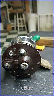 Vintage Rare 1 Green Penn Peerless No9 & 1 Brown No9 Saltwater Reels & Wrenches
