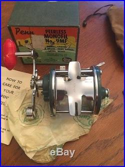 Vintage Rare Green Penn Reel Peerless No. 9 Saltwater Fishing Reel MIB! LOOK