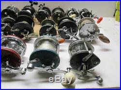 Vintage Reel Bundle Of 20 Reels Parts Or Repair