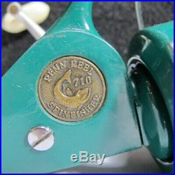 Vintage Teal Penn Spinfisher Spinning Reel Bait Caster No. 710 Aqua with Handle