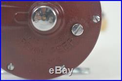 Vintage Very Good PENN PEER NO. 209 Burgundy, Fishing Reel Deep Sea