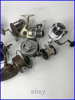 Vintage fishing reels, Penn, Pflueger, Quantum, Daiwa