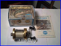 Vintage old fishing reel Penn 940 Levelmatic Bait Casting Reel with Box