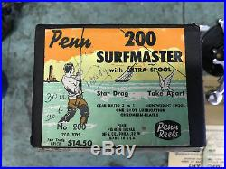 Vintage penn surfmaster 200 in box with extra spool fishing reel