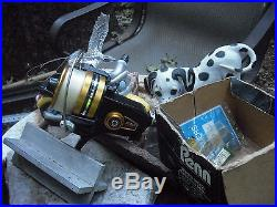 Vntg, Penn Ss-650 Lot, Very Nice Reel, Spins Nice, Loaded 15 Pnd Se-pics(actnow)