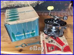 Vtg Fishing Penn #149 Deep Sea Reel Penn Fishing Tackle With Box Nos