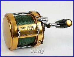 Vtg Penn 50 International Trolling Fishing Reel WORKS PERFECT SUPER CLEAN