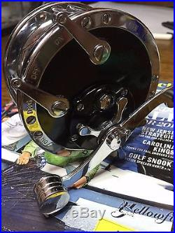 Vtg Penn No. 49 Super Mariner Deep Sea Saltwater Wire Line Trolling Reel Mint