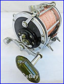 WOW Vintage Penn Senator 9/0 Deep Sea Fishing Reel withRod Clamp & Brace Big Game